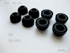 8 BLACK LARGE EARBUDS TIPS MOTOROLA S9-HD S9 HEADSET