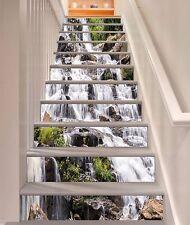 3D Rock Waterfall 4354 Risers Decoration Photo Mural Vinyl Decal Wallpaper CA
