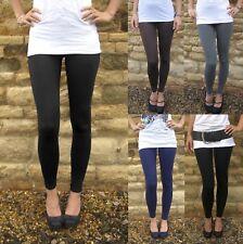 Petite Length Women Leggings Viscose Elastane BLACK Size 6 8 10 12 14 16 18 S M