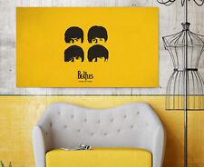 3D The Beatles 998 Wall Stickers Vinyl Murals Wall Print Deco AJSTORE UK Lemon