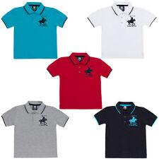 Polo De Algodón Niños Camiseta De Rugby Niños Camiseta Con Emblema De Caballo De 2-13 años