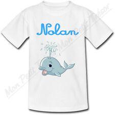 T-shirt Enfant Baleine avec Prénom Personnalisé