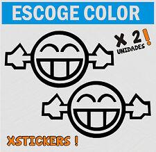 PEGATINAS - 2 UNIDADES- Too Loud Happy - ESCOGE TU COLOR - VINILO -VINYL STICKER