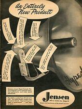 1948 Jensen Hypex Horn Speaker Alnico 5 Vintage Print Ad