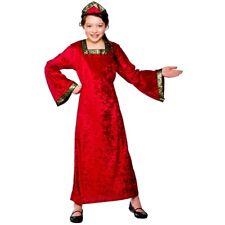 Child TUDOR PRINCESS RED Fancy Dress Costume Girls Book Week Age 3-10 Years