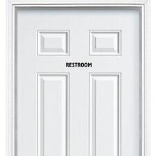 Restroom Toilet Entrance Sign Sticker for Bathroom Toilet Washroom Wc Door Wall