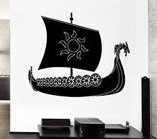 Wall Decal Viking Ship Warrior Ocean Marine Scandinavian Sea Cool Interior z2711