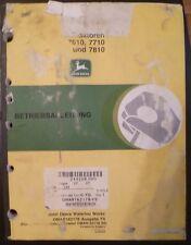 John Deere rimorchiatori 7610 + 7710 + 7810 istruzioni