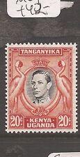 Kenya Uganda & Tang 20c KGVI Bird later printing SG 139b MOG (1avv)