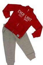 Tuta completo da bambino rossa grigia Everlast zip manica lunga ginnastica moda