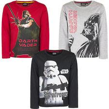 Neu Langarmshirt Jungen Star Wars Pullover Pulli schwarz rot 104 116 128 140#144