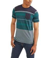 b4b09dc962bbf Ocean Current Men s Striped Adams Navy Blue Green Short-Sleeve Pocket T- Shirt