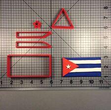 Cuban Flag 100 Cookie Cutter Set