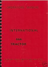 "International ""444"" Tractor Operator Manual"