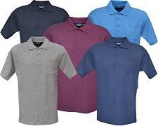 Mens Short Sleeve King Size Plain Polo Shirt T- Shirt Top M - 6XL By Tom Hagan