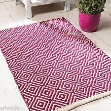 Commercio Equo 3 Taglie Diamond cotone stampa geometrica Weave artigianali Tappeto morbido moderno 5 col