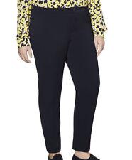 MARINA RINALDI Women's Navy Rame Original Straight Dress Pants $270 NWT