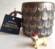Anniversary 2015 Starbucks 10 oz Coffee Mug Mermaid 3D Gold Scales Metallic Cup