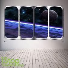Spazio Pianeta Finestra Adesivo Muro Pieno Colore-TERRA pianeti spazio nave SP2