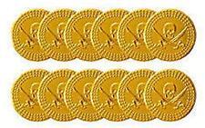 Bambini Bambini Ragazzi Pirata in plastica monete d'oro Treasure Festa BOTTINO BORSA RIEMPITIVI!
