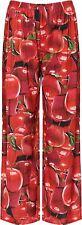 Neue Frauen Plus Größe Rot Apfel Ausdrucken mit weitem Bein Palazzo-Hose 36-54