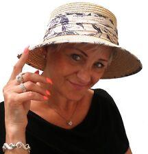 da donna cappello Seeberger PAGLIA NATURALE ESTIVO VACANZA Garten elegante SOLE