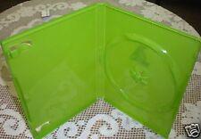 100 SINGLE XBOX DVD CD CASE Translucent Green  BL73X