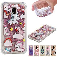 For Samsung Galaxy J3 J5 J7 Pro 2017 Patterned Shockproof Glitter Quicksand Case