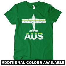 Fly Austin AUS Airport Women's T-shirt S-2X - Plane Airplane Bergstrom TX Texas