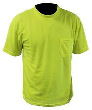 Tuff-Gard® 98-2401G Hi-Viz Pocket T-Shirt, Moisture Wicking Birds Eye Mesh, S-5X
