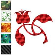 Rose Art Flower Decal Sticker Choose Pattern + Size #587