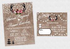 Wedding Invitations Rustic Winter Christmas Invites Boho Woodland Deer