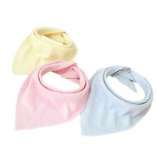 1pcs Baby Bandana Dribble Bibs with Snaps Super Absorbent Cotton DP