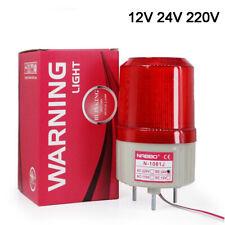12V 24 220V Red LED Strobe Rotating Signal Warning Light Safety Alarm Tower Lamp
