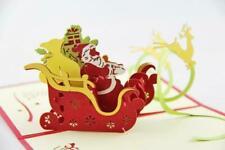 3D Creative Handmade Santa Claus Dancing Klaus Reindeer Christmas Greeting Card