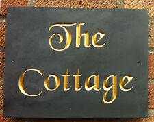"slate house plaque sign 12"" x 8"" (30cm x 20cm)   genuine ""v"" carved engraving"