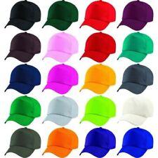 edee8448009e1 Enfants Garçons Filles Junior 100% Coton Sergé 5 Panneau Uni Casquette  Baseball