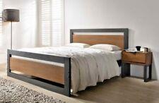LAVISH NEW MODERN OLIVIA DARK GREY FINISH WOODEN BED FRAME IN 4FT/4FT6/5FT
