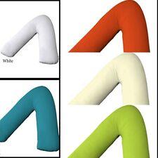 UK Made Polycotton Back & Neck Support V Shaped Orthopedic/Nursing Pillow Case