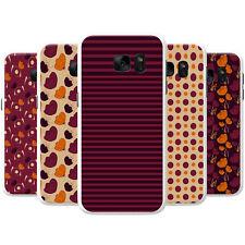Purple Orange Scrapbook Floral Patterns Hard Case Phone Cover for Samsung Phones