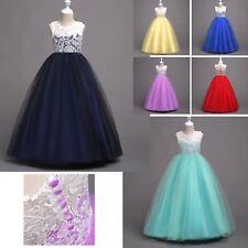 Vestito Lungo Cerimonia Feste Compleanno Bambina 5-16 A Party Girl Dress CDR077