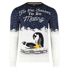 Ponticelli NATALE NUOVO Novità Divertente Naughty Xmas Knits Penguin TIS la stagione
