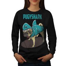 Pug Shark Funny Cute Dog Women Sweatshirt NEW | Wellcoda