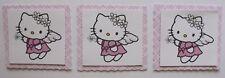 PK 3 Angel Hello Kitty TOPPERS PARA TARJETAS & MANUALIDADES