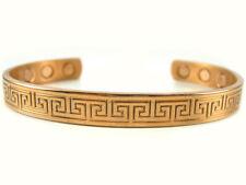 Greek Design Solid Copper / Cuff Bracelet  with Magnets