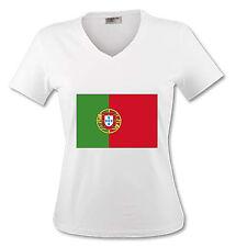 T-shirt Femme Drapeau Portugal - du S au XL