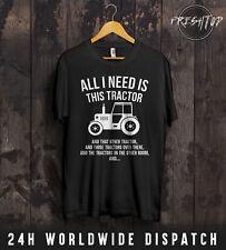 Todo lo que necesito es Tractor Camiseta agricultor Padre Regalo JOHN DEERE MASSEY New Holland
