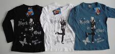 3er o. 2er-Pack Longarmshirt Shirt Langarm Hannah Montana petrol, weiß, schwarz