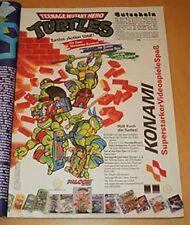 Rare early 1990s Konami mailaway game decals Nintendo NES SNES GB Sega GONE=GONE