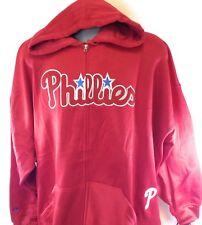 NEW Mens MLB Majestic Philadelphia Phillies Full Zip Poly Fleece Baseball Jacket